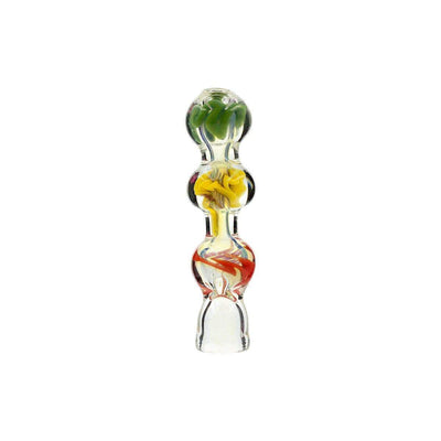 3 colors glass chillum
