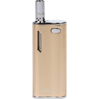 Gold The Kind Pen Discreet vaporizer vape ceramic wickless refillable cartridge 5-click turn-on USB port and LED light