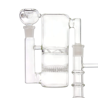 2 stage ash catcher with bowl attached to a bong