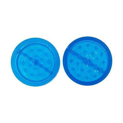 Mini Plastic Herb Grinder - 2 Parts Blue
