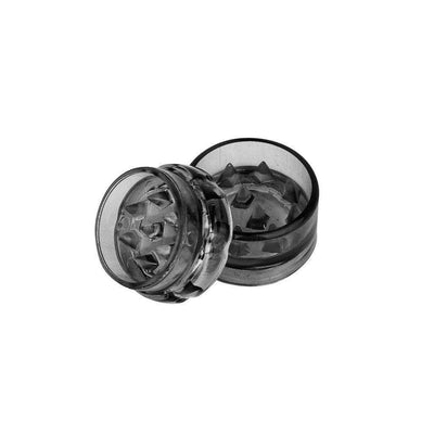 Mini Plastic Herb Grinder - 2 Parts Grey