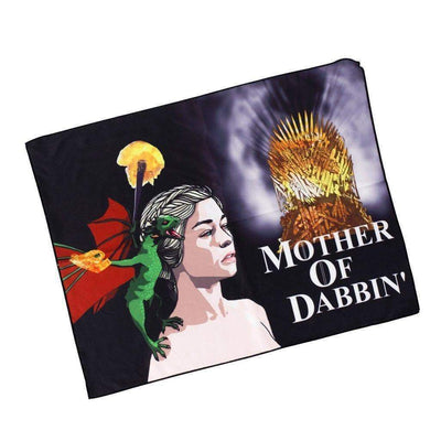 Dab rag cleaning cloth smoking accessory with Daenerys Targaryen a dragon on her shoulder Game of Thrones design