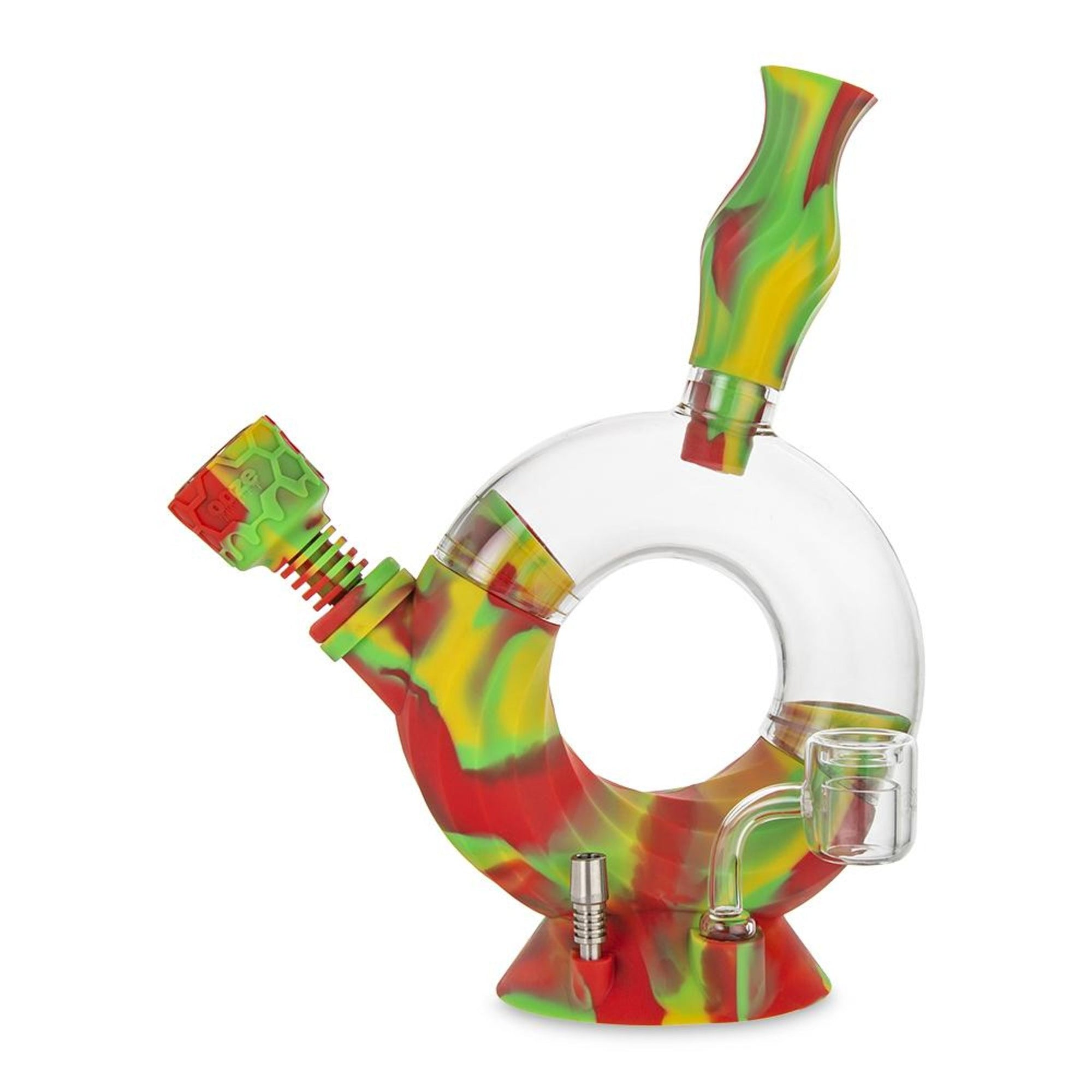 Ooze Ozone 4-in-1 Silicone Water Pipe n Nectar Collector - 11in