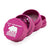 Pink 1.85 inch 4 piece Cali Crusher aluminum herb grinder lid with white bear silhouette and star design facing left