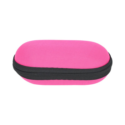 Functional 6-inch x 2 1/2-inch pink storage zip pouch for pipes and smoking devices with foam interior in stylish design