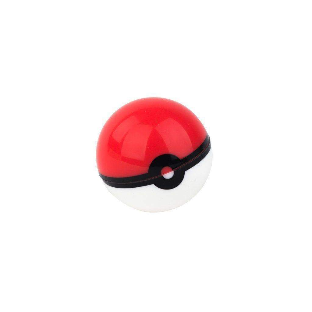 0.8-ounce pocket-friendly and easy-to-clean silicone round wax container with fun Pokemon ball look colors