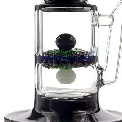 10-inch glass bong smoking device sophisticated look with black diamond orb quantum scientific design