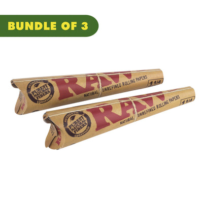 Easy-to-use pre-rolled classic RAW cone papers 1 ¼ wide in a unique cone shape and wooden rustic style