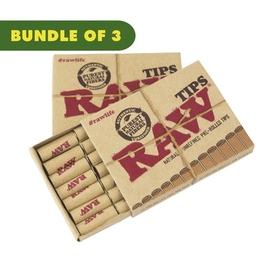 21 pack RAW classic wide tips natural cellulose rolling paper weed filtration 300 counts unbleached tips wooden rustic style