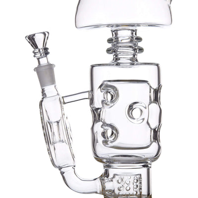 10-inch glass bong smoking device double champered robot waterflow design futuristic look