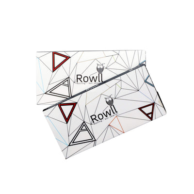 2 pack of Rowll rolling kit accessory 32 papers per pack with filters Rowll owl pyramids design magnet close