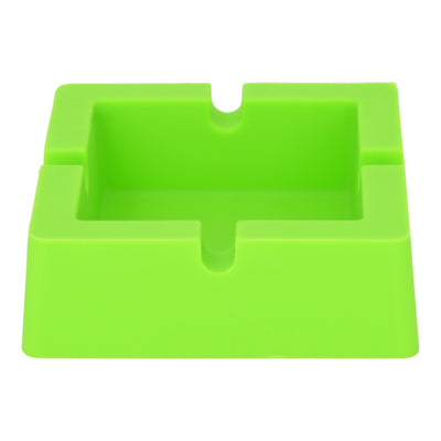 3.5 silicone ashtray tray smoking device smoking accessory with a square shape ice cube tray shape in green