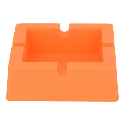 3.5 silicone ashtray tray smoking device smoking accessory with a square shape ice cube tray shape orange
