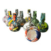 10 piece multicolored comic print silicone bowl smoking device part 9 bowl joints facing upwards 1 bowl opening facing front