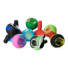 8 pieces silicone bowl smoking device part in different tie-dye designs and multi colored swirls