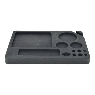 Handy rectangular silicone dab tray plate smoking accessory unique shape with compartment for dab, wax and smoking items