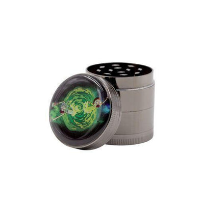 Fun set of RnM-inspired Rick and Morty designed 4-piece grinder