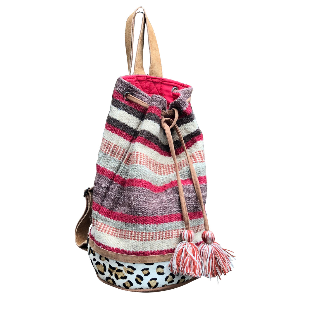 Chloe & Lex - Autumn Stripes Bucket Tote (Backpack) - The Desert Paintbrush