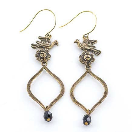 Tara Gasparian Jewelry - Blackbird Earring - Bronze - The Desert Paintbrush