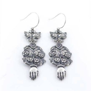 Tara Gasparian Jewelry - La Reina Earring - Silver - The Desert Paintbrush