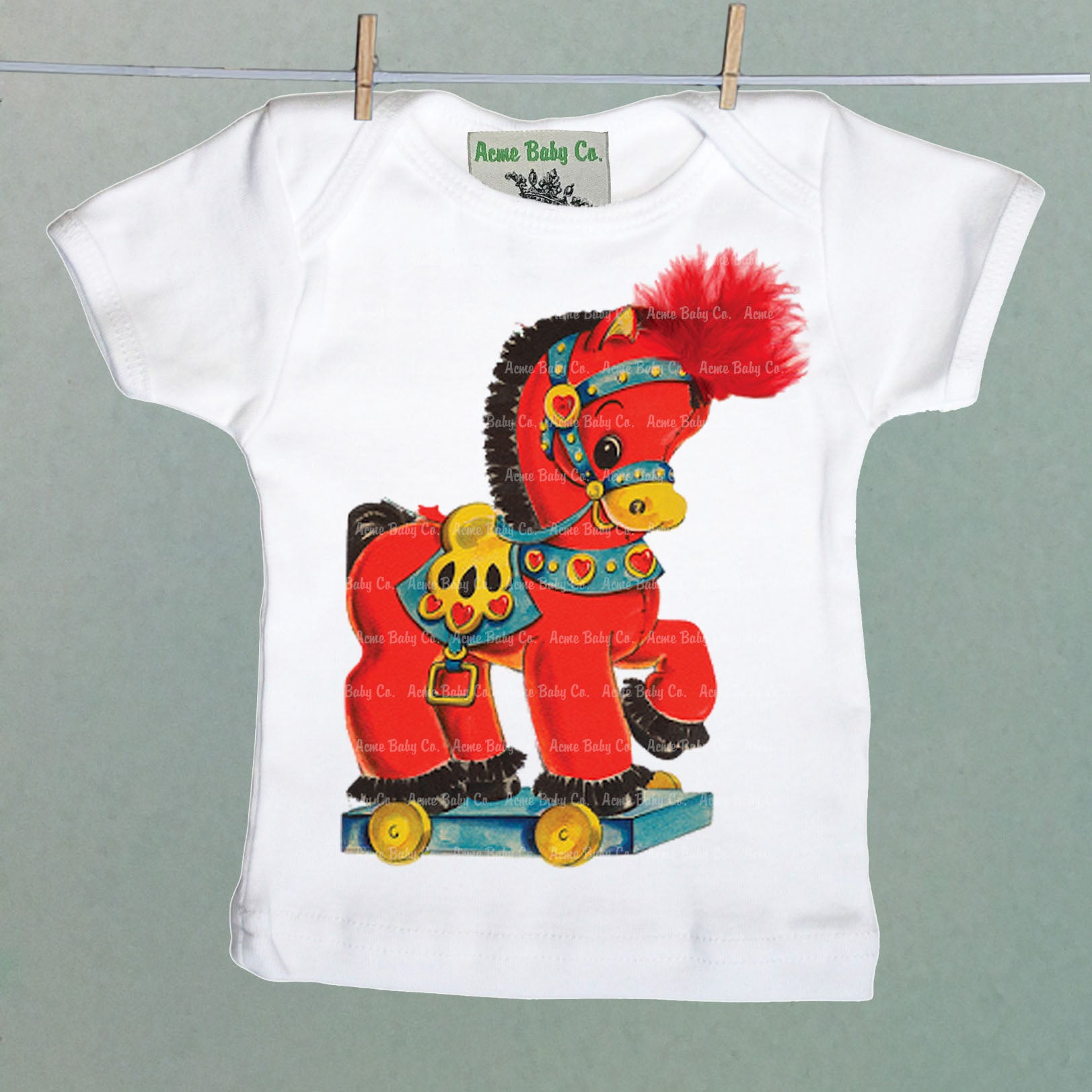 Acme Baby Co. - Vintage Horse Organic Baby Shirt - The Desert Paintbrush