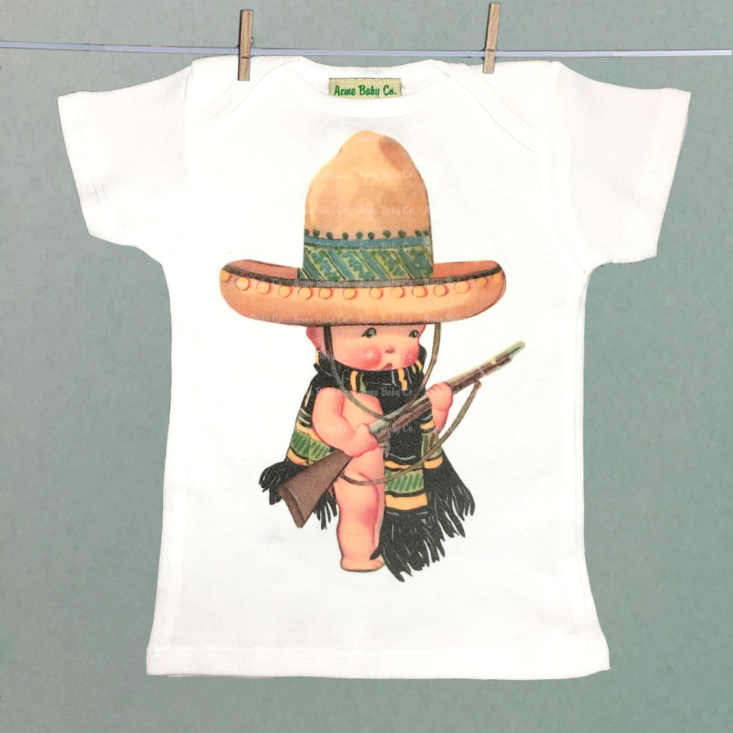 Acme Baby Co. - Mexican Soldier Organic Baby Shirt - The Desert Paintbrush