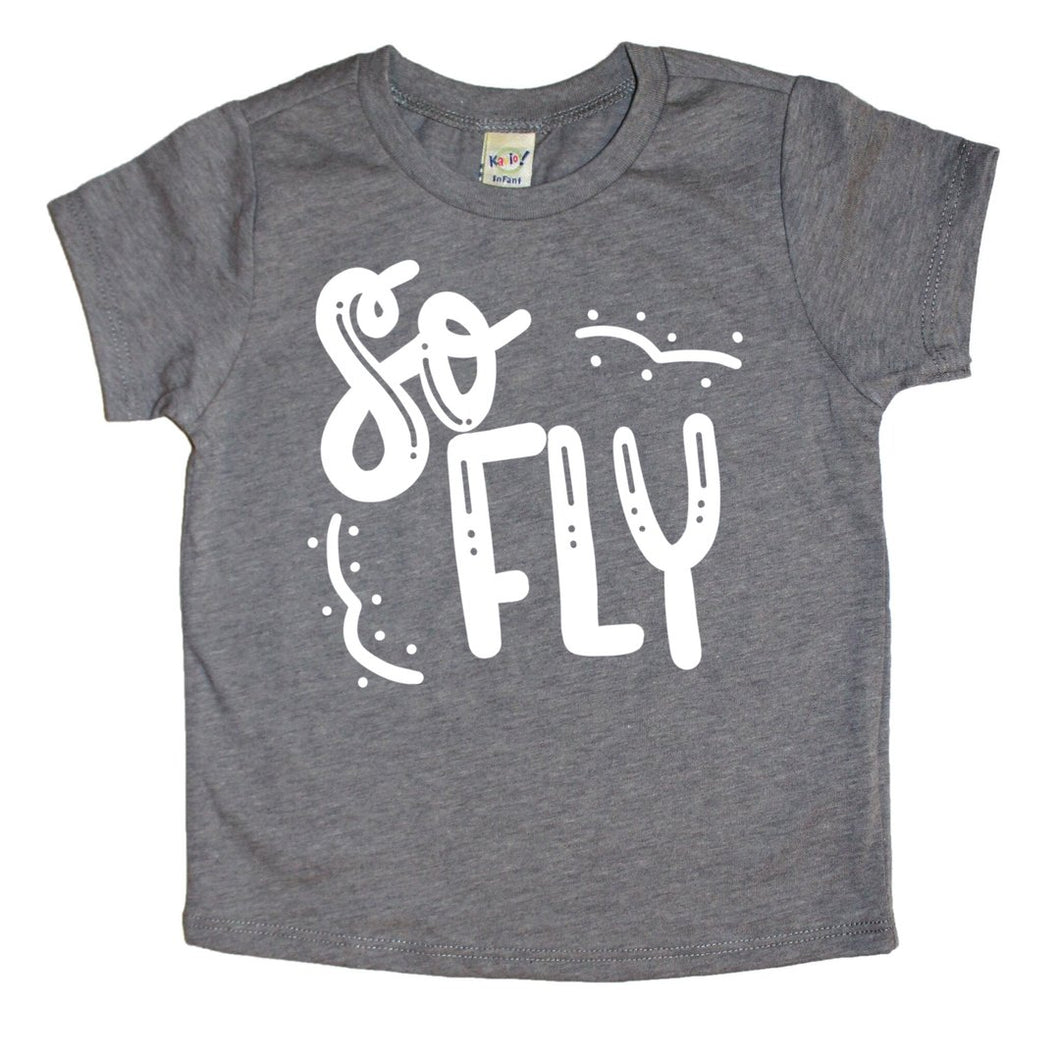 Mattie and Mase - So Fly Kids Tee - The Desert Paintbrush