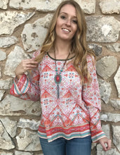 Coral BoHo top - The Desert Paintbrush
