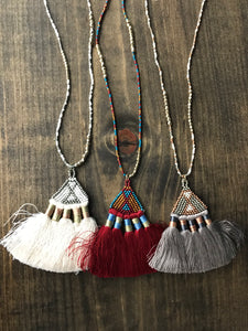 Fan Tassel Necklaces - The Desert Paintbrush