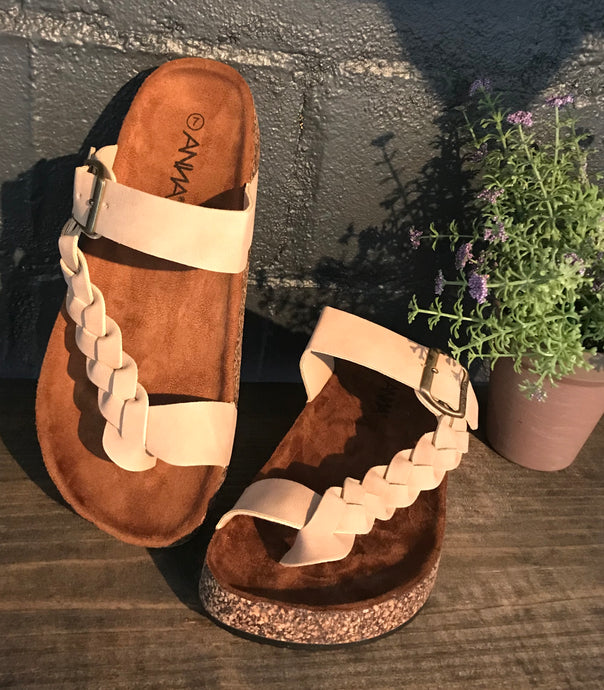 Nude Braided Sandals - The Desert Paintbrush