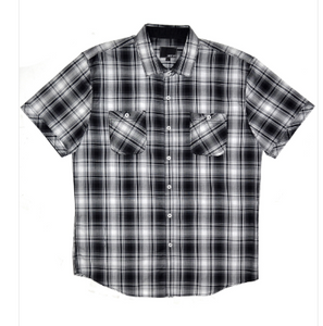 Mens Black Plaid Button Up Shirt