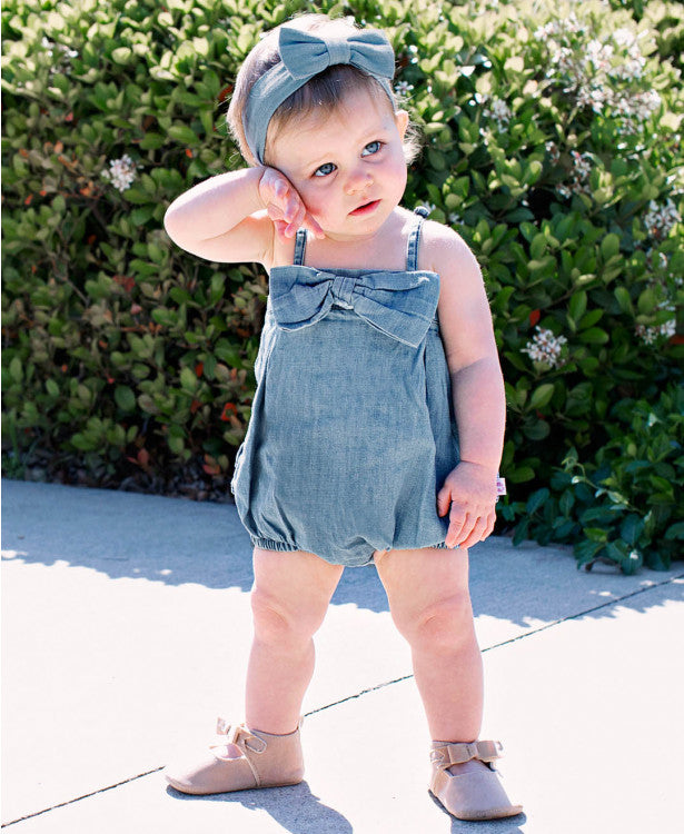 Girls Denim Romper - The Desert Paintbrush