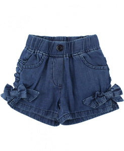 Girls Denim Shorts - The Desert Paintbrush