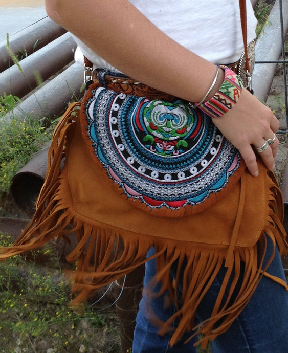 Festival Hippie Crossbody Handbag - The Desert Paintbrush