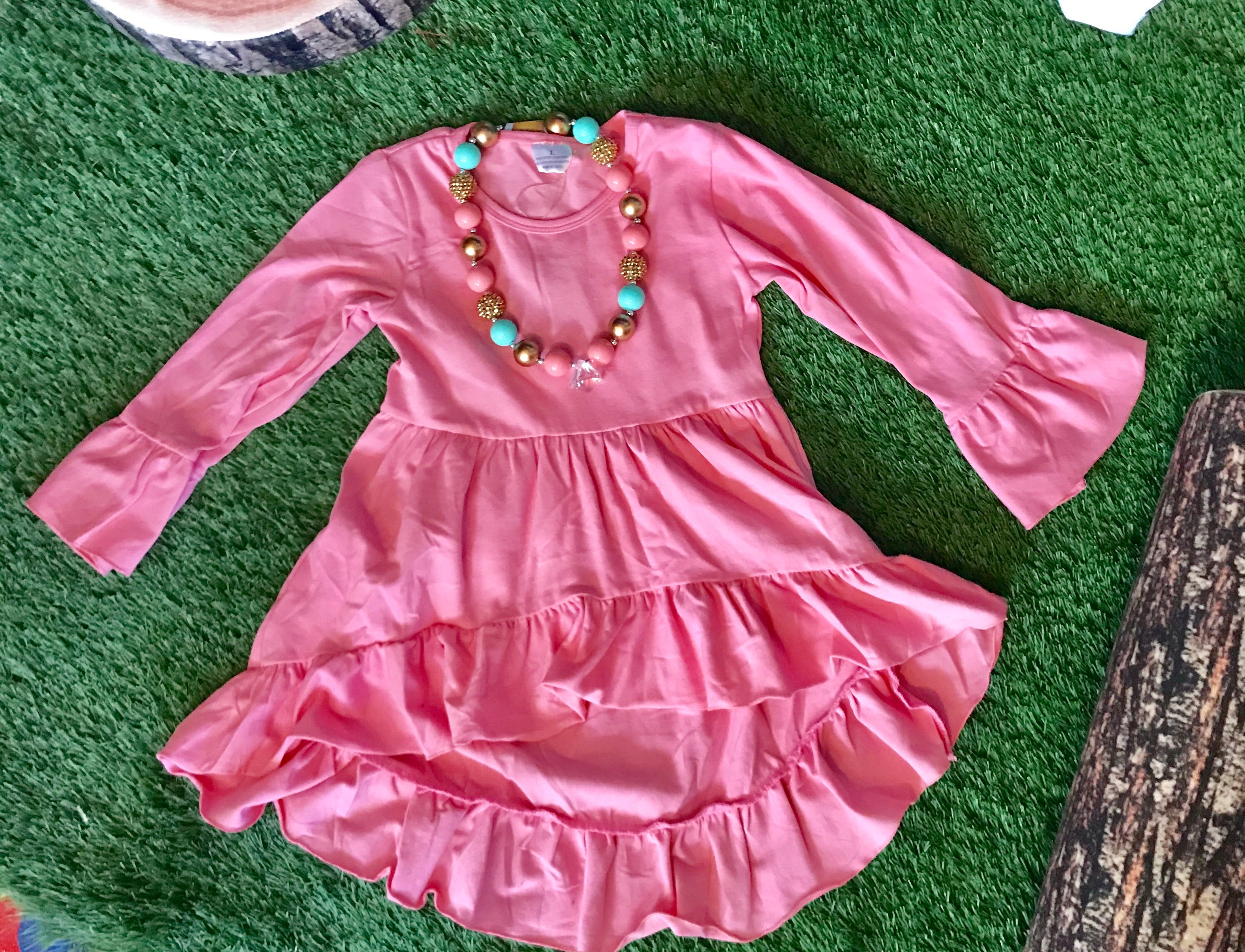 Pink Ruffles Top - The Desert Paintbrush