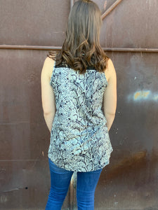 Sneaky python lace tank - The Desert Paintbrush