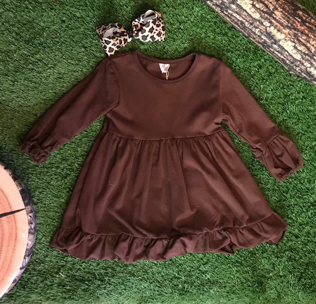 Brown Ruffle Shirt - The Desert Paintbrush
