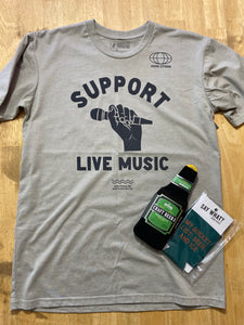 Support Live Music Tee-gray