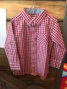 Red checkered button up - The Desert Paintbrush