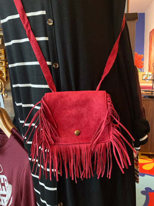 Girls Fringe Crossbody Purse