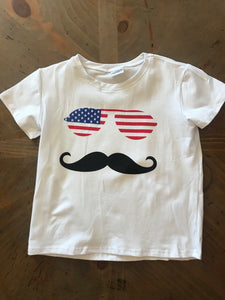 Mustache and USA t shirt - The Desert Paintbrush