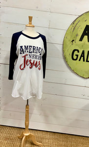 America Needs Jesus tee - The Desert Paintbrush