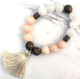 Wooden Beaded Bracelet - The Desert Paintbrush