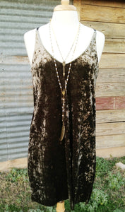 Velvet Criss Cross Dress - The Desert Paintbrush