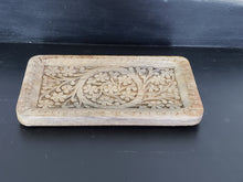 Hand Carved Mango Wood Tray - The Desert Paintbrush