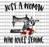 Woman loves Sewing
