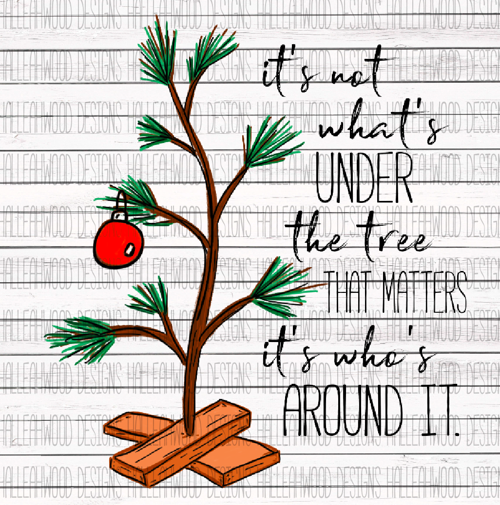 Peanut Christmas Tree: Charlie Brown Fan Art- Christmas Tree With Quote