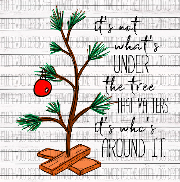 Charlie Brown Fan Art- Christmas Tree with quote