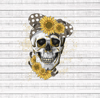 Flower and Bandana Skull