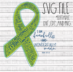 Cancer Ribbon- Fearfully and Wonderfully Made